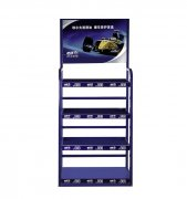Vehicle accessories tools display racks with layers