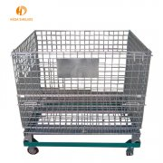 Rolling storage metal cage