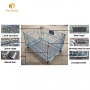 Storage metal cage with roller