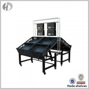 Double side black vegetable & fruit rack