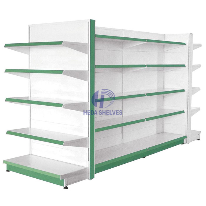 Popular Retail Store Rack Long Four Side Display Su
